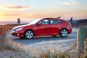 Rod and Sheryl and the Holden Cruze Equipe
