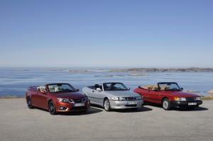 12 Saab convertibles