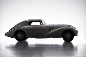 Ästhetik der Aerodynamik: Mercedes-Benz 540 K Stromlinienwagen von 1938. Aesthetics of aerodynamics: Mercedes-Benz 540 K Streamliner dating back to 1938.
